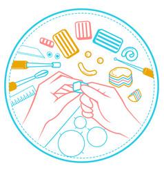 A handmade hands vector
