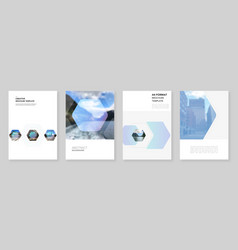 A4 brochure layout covers templates for flyer vector