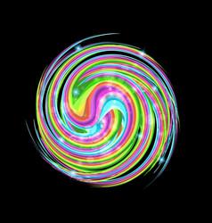 abstract colorful circle swirl symbol vector image