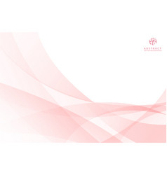 abstract pink curve spiral lines background vector image