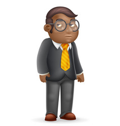 african american european manager adult vector image
