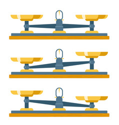 balance scales weigher equality equalconcept vector image
