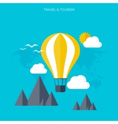 Balloon icon World travel concept background vector image