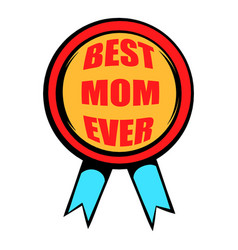 best mom rosette icon icon cartoon vector image