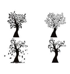 black season tree vector image