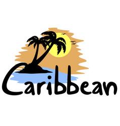 Caribbean beach vector