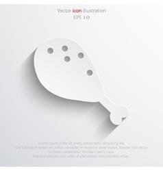 Chicken leg web icon vector