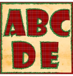 Christmas letters abcde vector