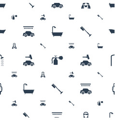 clean icons pattern seamless white background vector image