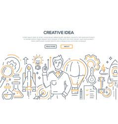 creative idea - modern line design style vector image