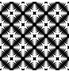 Design seamless monochrome geometric cross pattern vector image