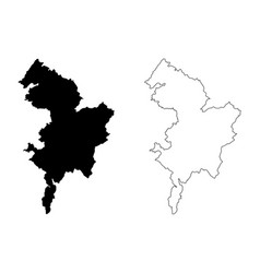 East ayrshire map vector