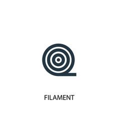Filament icon simple element vector