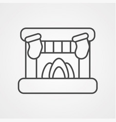 Fireplace icon sign symbol vector