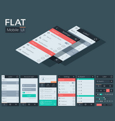 Flat user interface mobile design concept vector