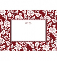 floral pattern and frame vector image