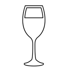 Glass of wine black color icon vector