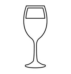 glass wine black color icon vector image