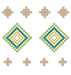 Green yellow rural geometric ornament Elements vector image