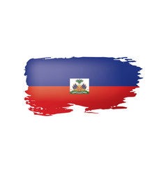 haiti flag on a white vector image