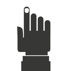 Hand pointing design vector
