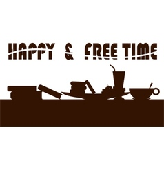 Happy freetime vector
