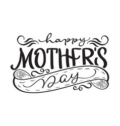Happy mothers day black modern text vector