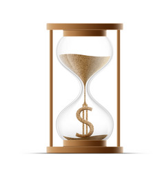 hourglass with dollar sign costs money icon vector image