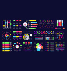infographic dashboard graphic charts finance vector image
