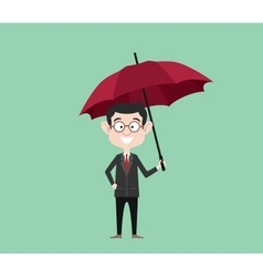insurance concept sign symbol with businessman vector image