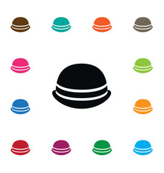 Isolated trilby icon cap element can be vector