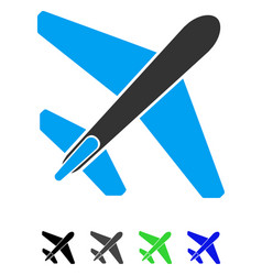 Jet airplane flat icon vector