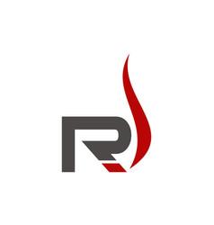 letter r vapor vector image