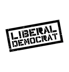 Liberal Democrat rubber stamp vector image