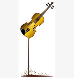 liquid violin vector image