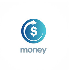Money dollar arrow logo vector
