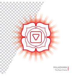 muladhara - chakra human body vector image