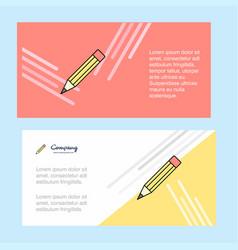 pencil abstract corporate business banner vector image