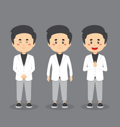 People character with various expression vector