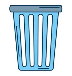 plastic basket laundry icon vector image