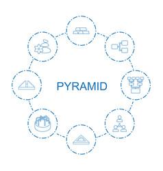 Pyramid icons vector