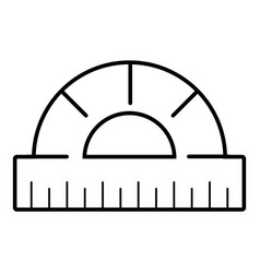 ruler icon outline line style vector image