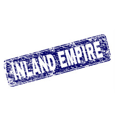 Scratched inland empire framed rounded rectangle vector