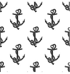 seamless pattern with black anchors vector image