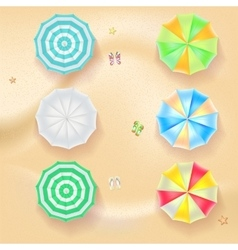 Set of colorful beach umbrellas vector