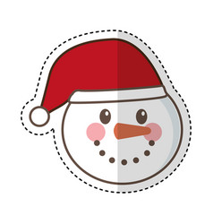 snowman character christmas card vector image