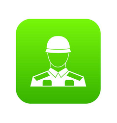soldier icon digital green vector image