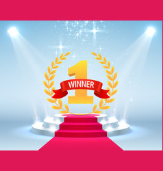 stage podium scene with for award ceremony vector image