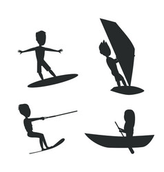 Summer set of silhouettes vector