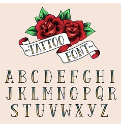 tattoo alphabet vector image